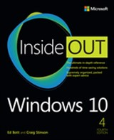 book cover: Windows 10 Inside Out, 4th Edition