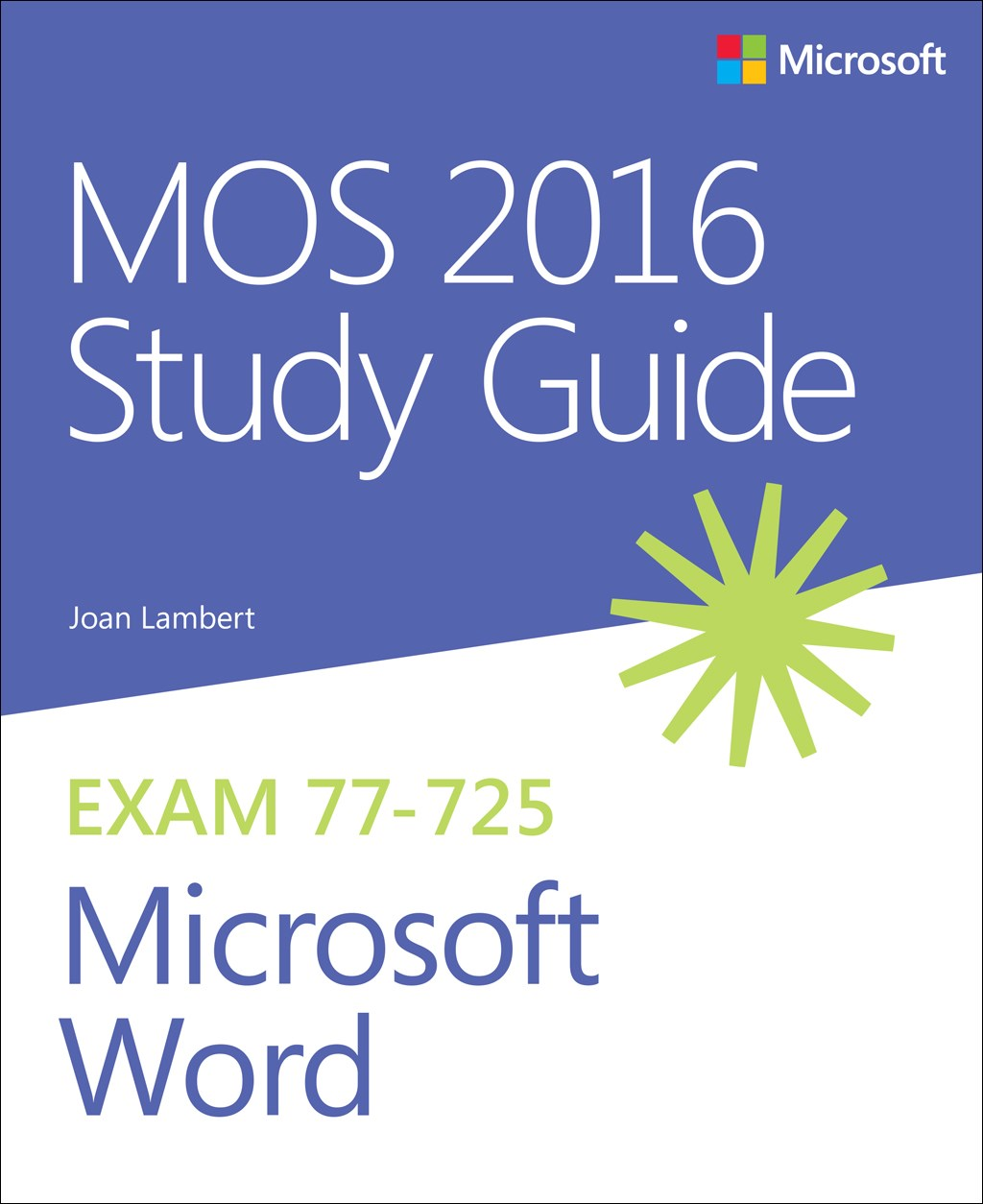 Mos 2016 Study Guide For Microsoft Word Microsoft Press Store
