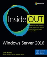 Book cover: Windows Server 2016 Inside Out (includes Current Book Service)