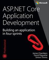 Book cover: ASP.NET Core Application Development: Building an application in four sprints